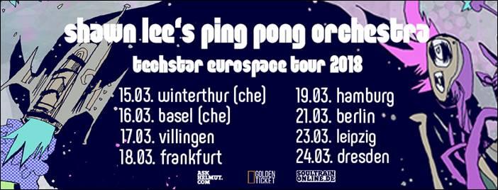 soultrainonline.de präsentiert: Shawn Lee's Ping Pong Orchestra – Techstar Eurospace Tour 2018!
